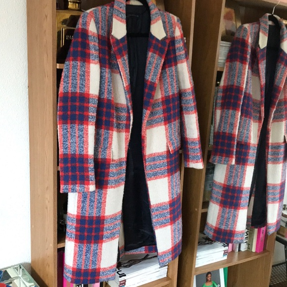 Zara Jackets & Blazers - ZARA red and plaid coat